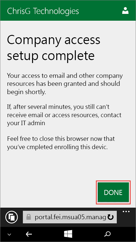 MDM_WindowsPhone_3_設定完成