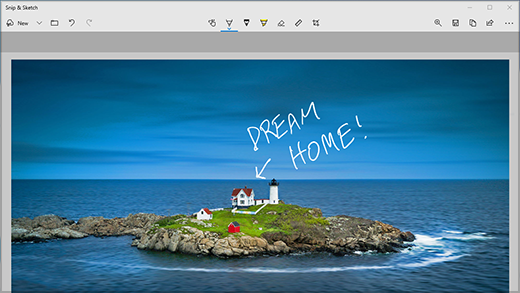[剪下] & 使用一般圖片上的批註來繪製投影應用程式。