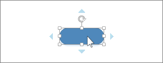 將游標停留在圖形上會出現藍色箭號