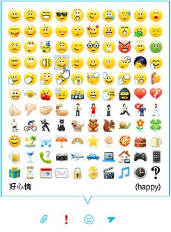 商務用 Skype IM 表情符號