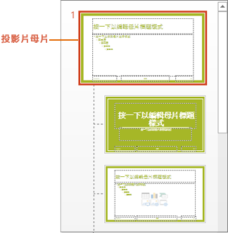 投影片母片與版面配置