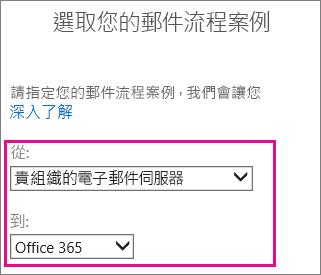選擇貴組織的 Office 365 之電子郵件伺服器