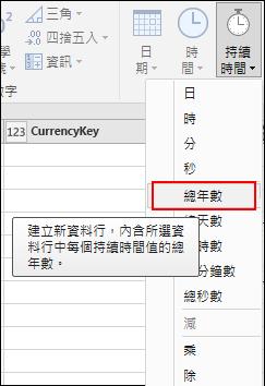 Pwer Query - 將 [期間] 值轉換為 [年]。
