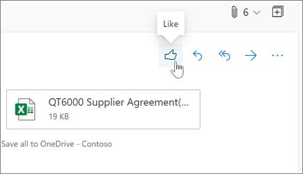 在 Outlook 網頁版中贊電子郵件